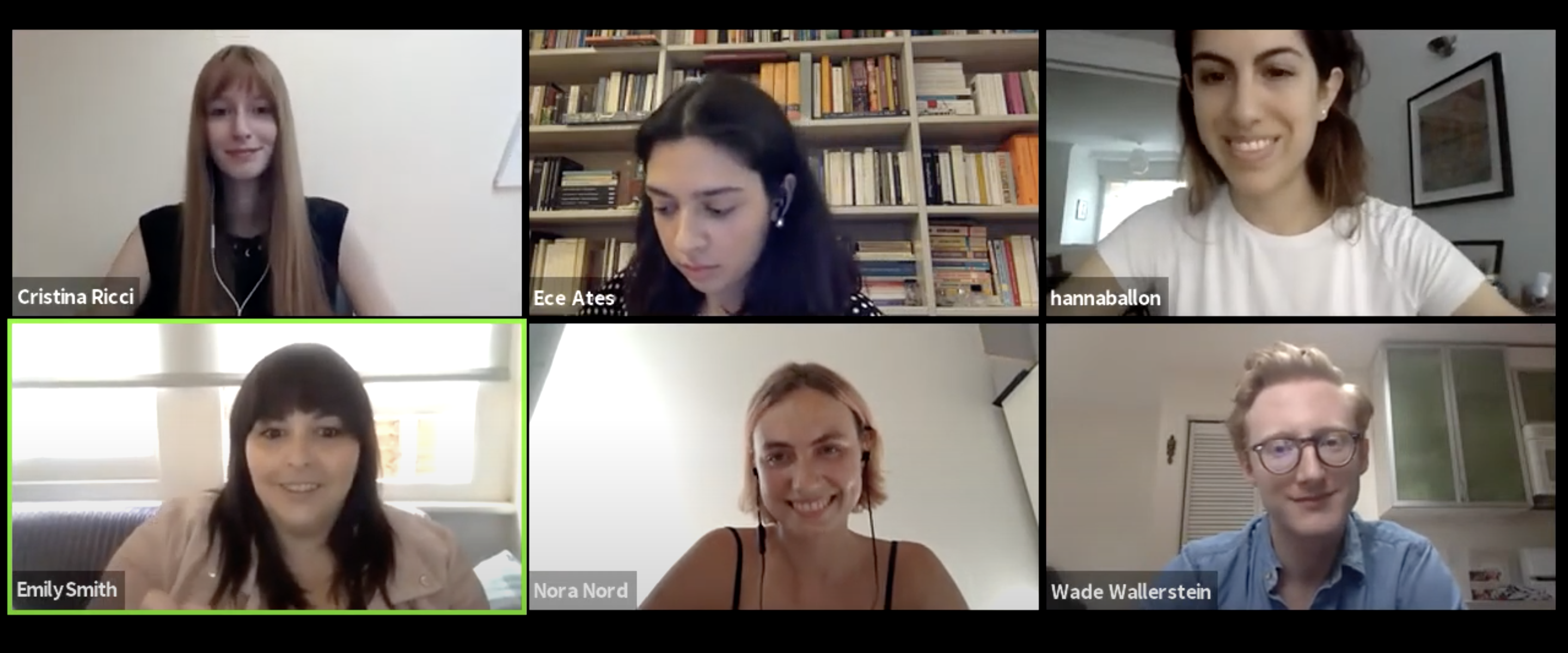 five participants in the live panel discussion on