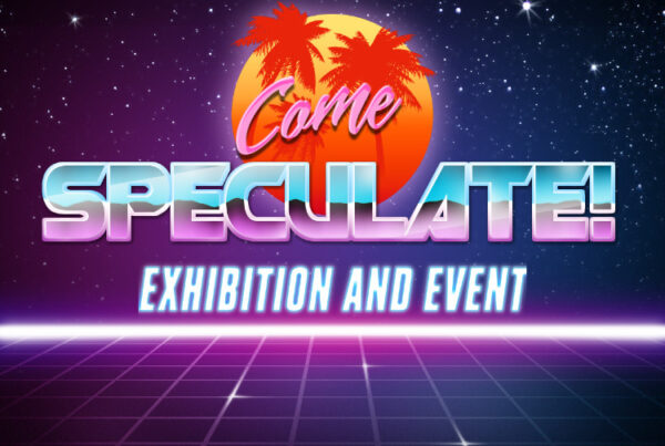 Speculate exhibition and event colourful poster
