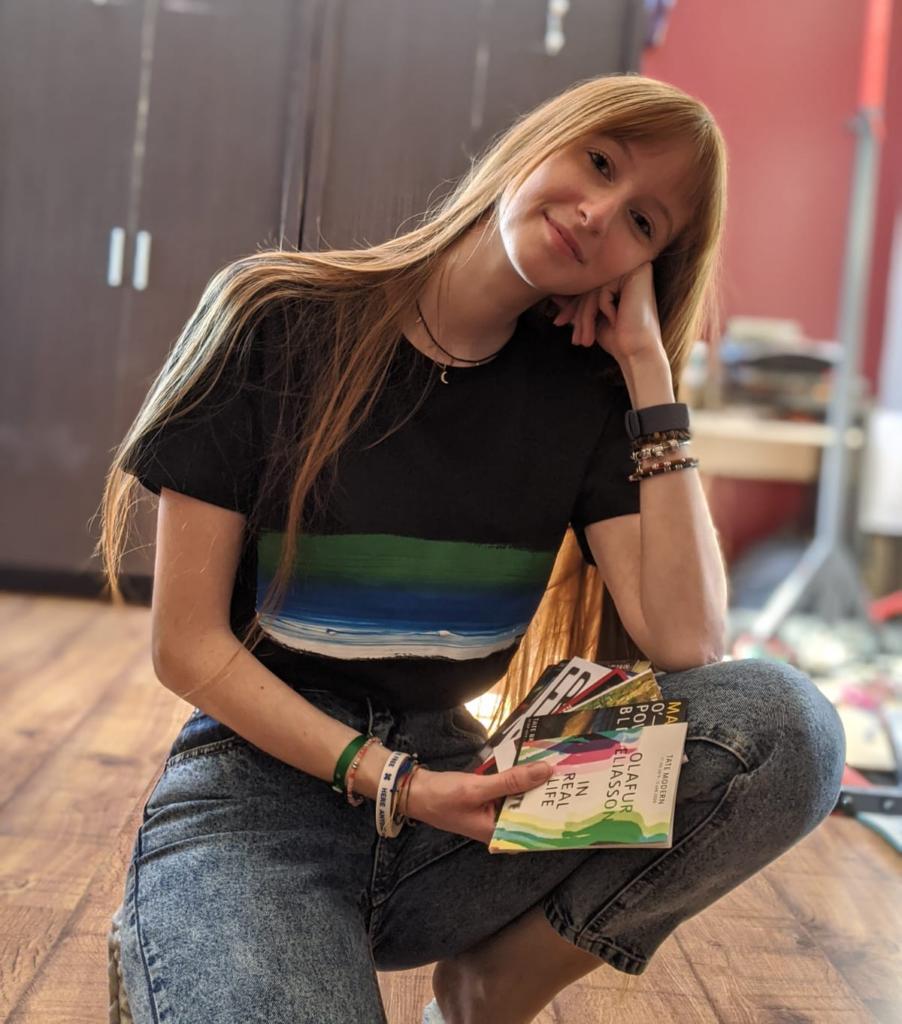 Cristina Ricci wearing Sani Label t-shirt
