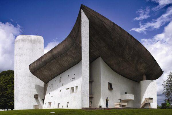 chapel of Notre Dame du Haut built by Le Corbusier