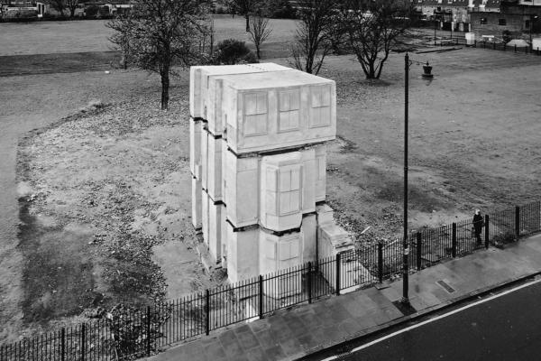 Rachel Whiteread's temporary public sculpture consisting of a concrete cast of a house