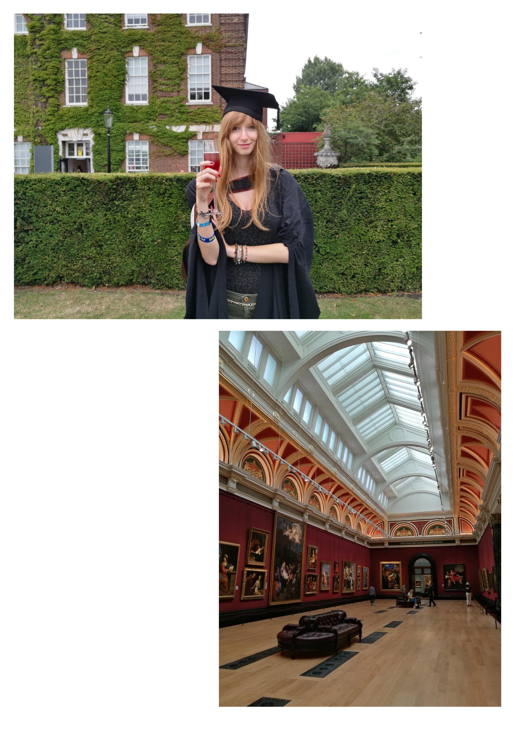 Cristina Ricci at graduation and at The National Gallery