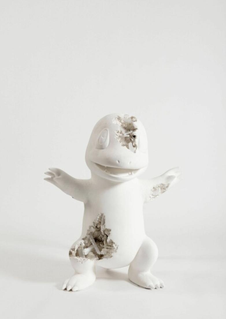 sculpture of the Pokémon character Charmander